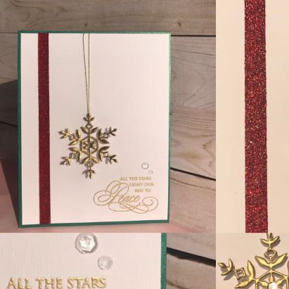 Bharati Nayudu sparkle CAS card _guest designer for aaa cards challenge 105