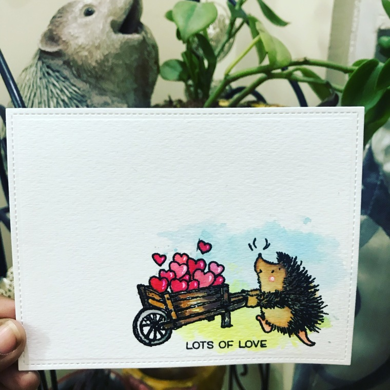bharati nayudu CAS penny black stamp hedgeho love handmade card.JPG