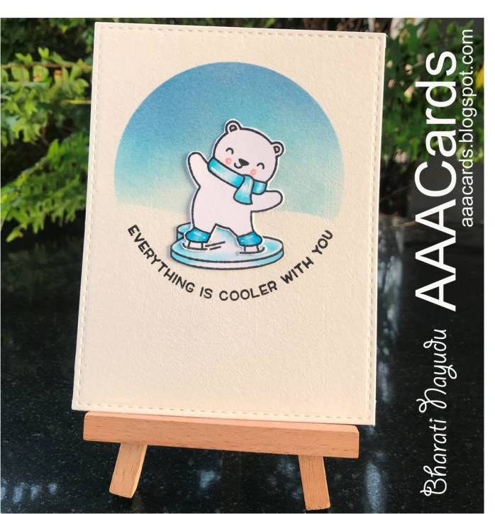 bharati nayudu lawn fawn polar bear on skates in ice for aaacards challenge