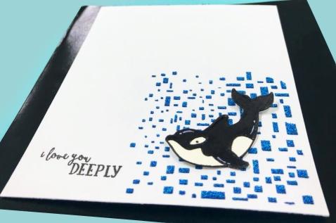 bharati nayudu nuvo blu glimmer paste avery elle whale valentines CAS card 1