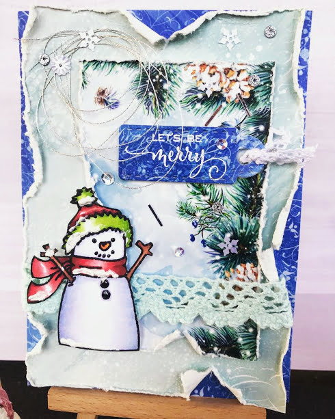 Bharati Nayudu Winter christmas shabby chic card 2