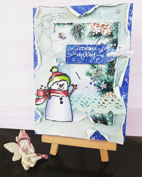 Bharati Nayudu Winter christmas shabby chic card 4