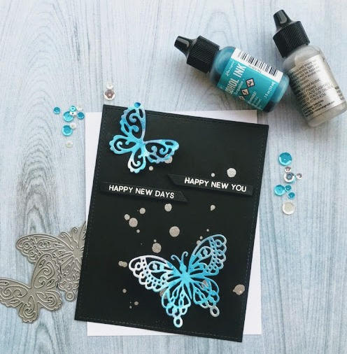 Bharati nayudu_alcohol inks_ butterfly new you handmade card 1
