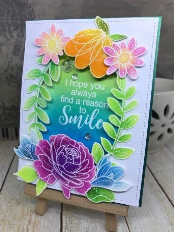 Bharati nayudu thankyou card with flowers