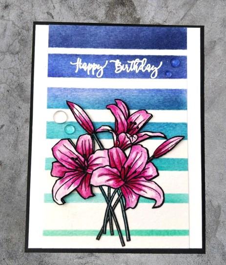 bharati nayudu avery elle spring boquet watercolor flowers handmade card