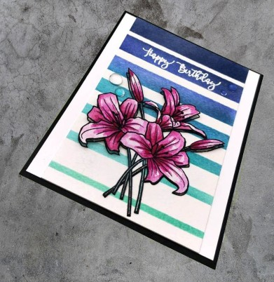 bharati nayudu avery elle spring boquet watercolor flowers handmade card1
