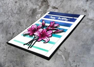 bharati nayudu avery elle spring boquet watercolor flowers handmade card2