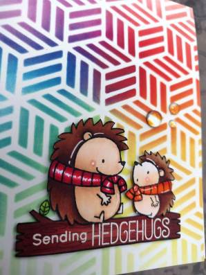 bharati nayudu MFT Hedgehogs copic colors rainbow stencil background handmade card 3.JPG