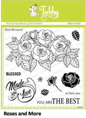 tubby roses stamp