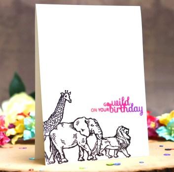 bharati birthday handmade greeting card stampendous africa animal 1