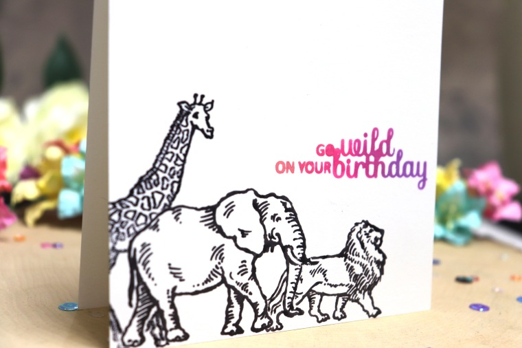 bharati birthday handmade greeting card stampendous africa animal 2